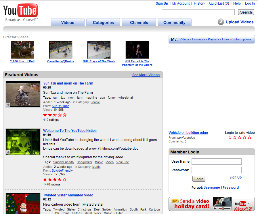 youtube.com שנת 2006