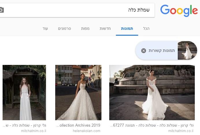 צילום מסך גרסת דסקטופ הצגת תמונות קשורות מתמונה שנבחרה