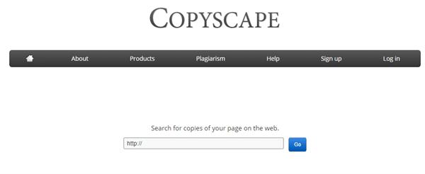 צילום מסך מאתר copyscape